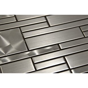 Random Sized Metal Mosaic Tile in Silver