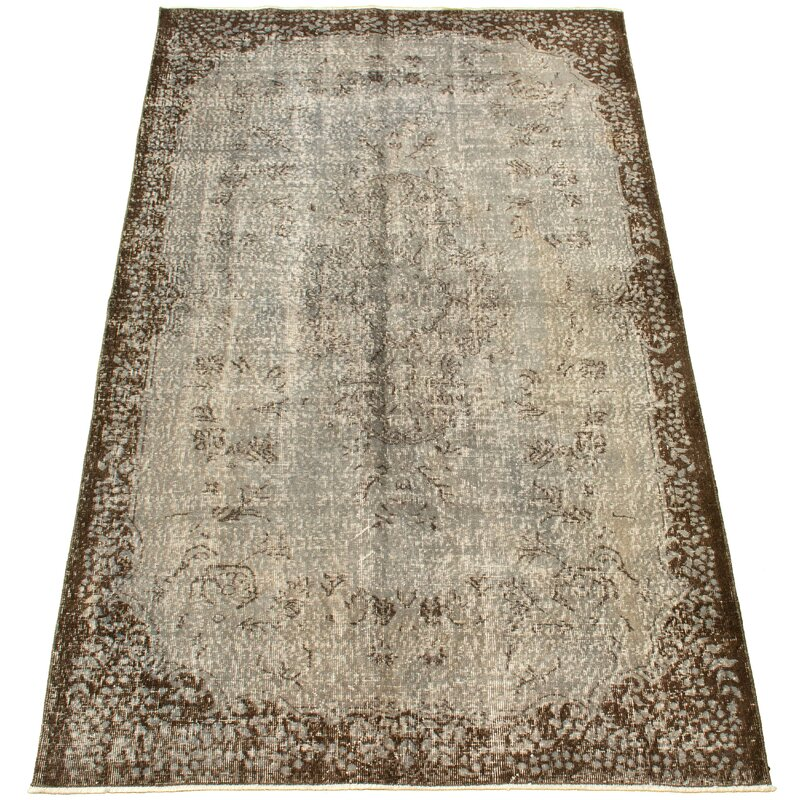 Isabelline One Of A Kind Overdyed Hand Knotted 1980s Beige 5 3 X 8 10 Wool Area Rug Wayfair