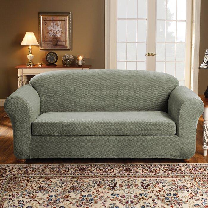 Groovy Strech Royal Diamond Box Cushion Sofa Slipcover Beatyapartments Chair Design Images Beatyapartmentscom