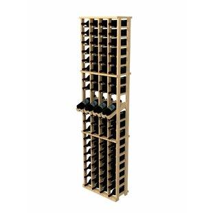 Rustic Pine 80 Bottle Wall Mounted Wine Rack