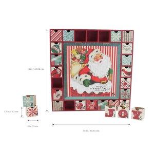 Vintage Inspired Santa Wooden Advent Calendar
