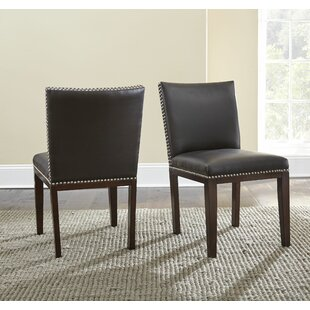 Bonded Leather Upholstered Dining Chair (Set of 2)