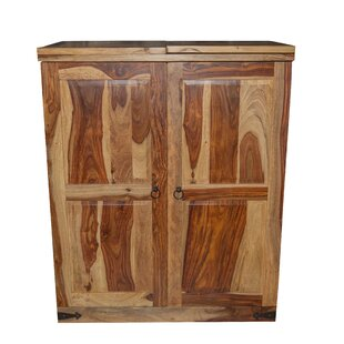 Loon Peak Stern Sheesham Wood Bar Cabinet