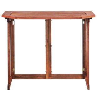 Burden Folding Wooden Balcony Table By Sol 72 Outdoor