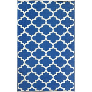 Martina Tangier Regatta Blue & White Indoor/Outdoor Area Rug