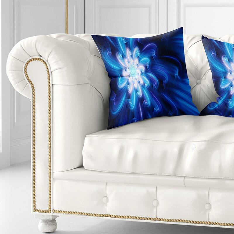 East Urban Home Floral Exotic Dance Of Flower Petals Pillow Wayfair