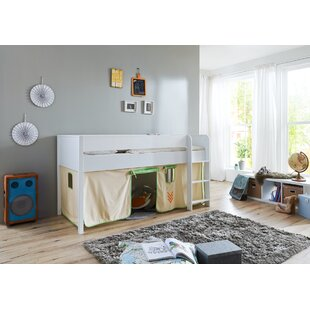 Rollegem European Single Mid Sleeper Bed With Curtain By Zoomie Kids
