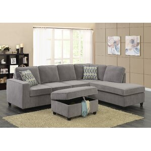 Barksdale Reversible Sectional by Zipcode De..