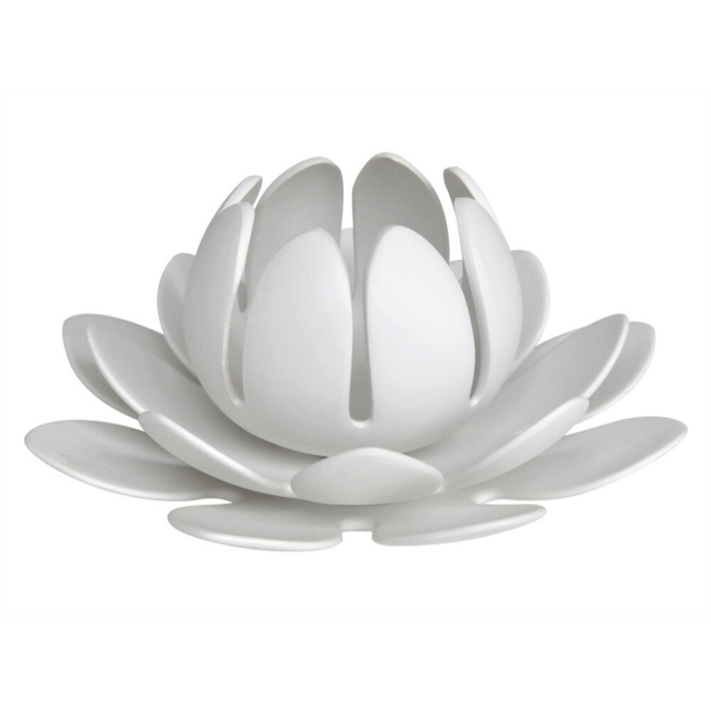 Bloomsbury Market Mebane Lotus Flower Ceramic Tealight Holder Wayfair