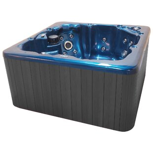 Tahoe 6-Person 65-Jet Hot Tub With Waterfall And LED Light By QCA Spas