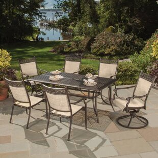 Doucette Cast Aluminum And Sling 7 Piece Dining Set