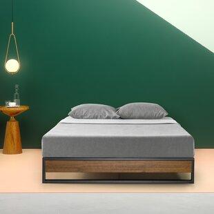 Zipcode Design Parthenia Metal and Wood Platform Bed