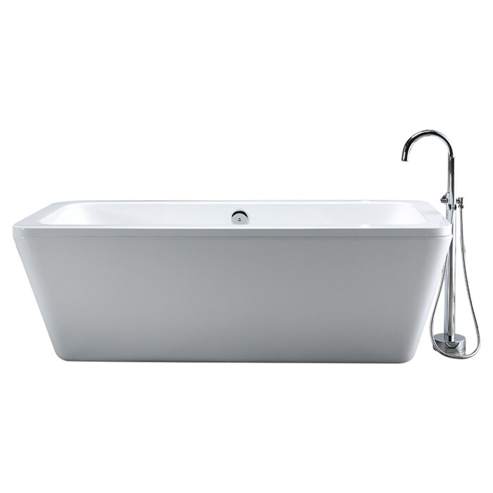 free standing tub. Kido 69  X 23 Acrylic Freestanding Bathtub Ove Decors Reviews