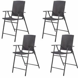Bromborough Folding Garden Chair (Set Of 4) By Mercury Row