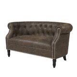 Quinones Chesterfield 54'' Rolled Arms Loveseat by Andover Mills™
