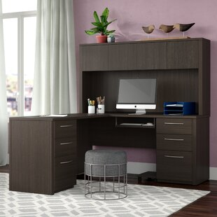 Karyn L-Shape Executive Desk with Hutch