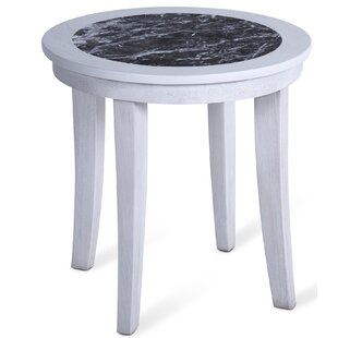 Norwalk Marble End Table by Fleur De Lis Living