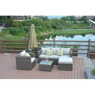 Liseron 4-Piece Rattan Sofa Seating Group with Cushions