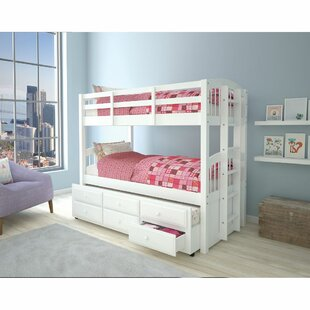Phi Twin Over Twin Platform Bed with Trundle by Harriet Bee