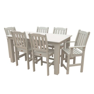 Phat Tommy 7 Piece Dining Set Buyers Choice Table Size: 36 H x 37 W x 72 L, Finish: White Wash