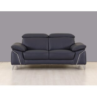 Alton Leather Loveseat
