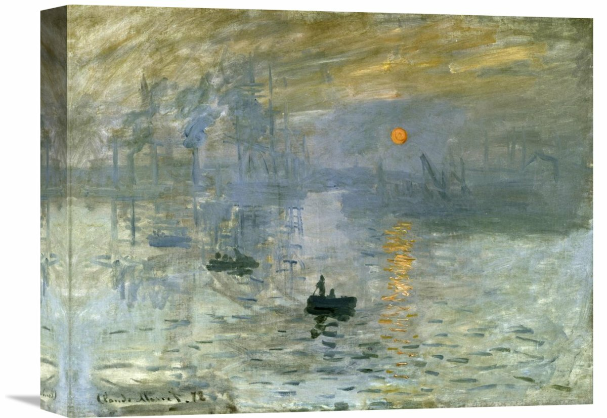 Sunrise by Claude Monet Giclee Fine Art Print Reproduction on Canvas