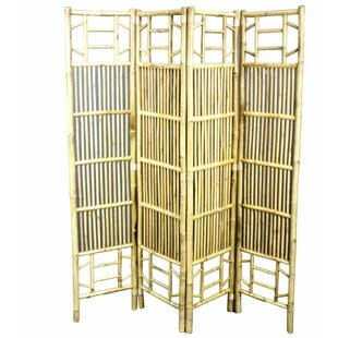 Nikhil 4 Panel Room Divider by Bayou Breeze