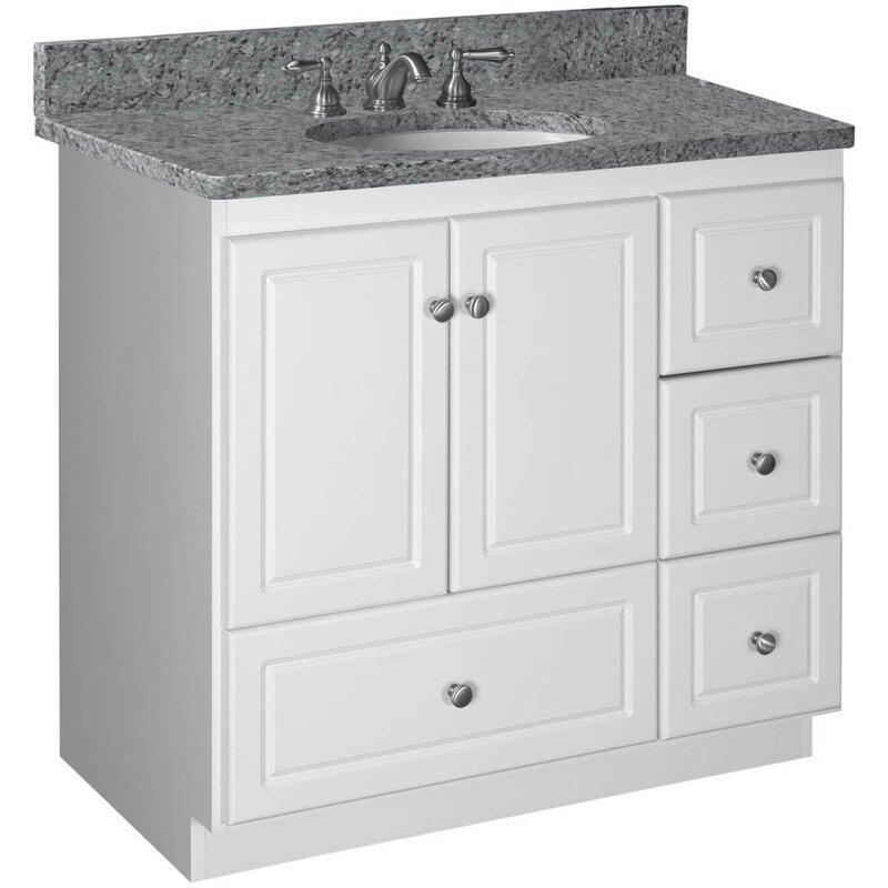 """36 Bathroom Vanity strasser woodenworks simplicity 36"""" bathroom vanity base & reviews"""