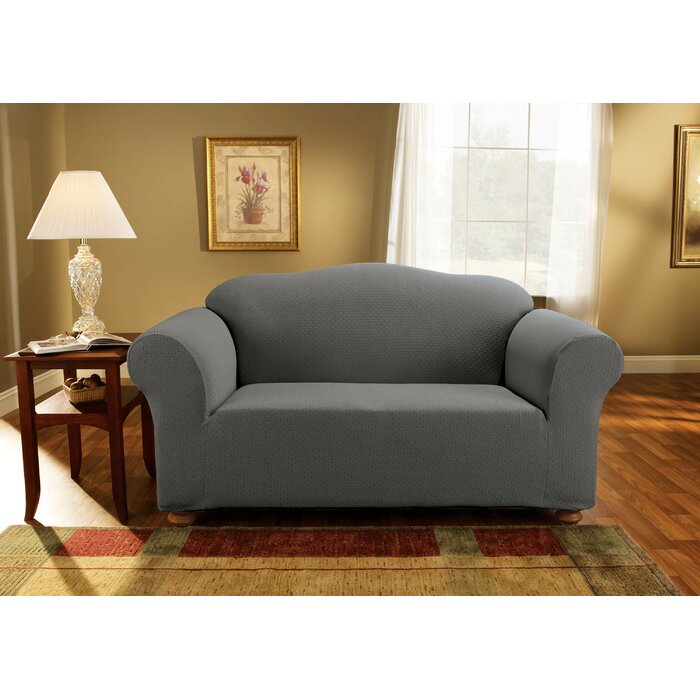 Admirable Simple Stretch Subway Box Cushion Loveseat Slipcover Unemploymentrelief Wooden Chair Designs For Living Room Unemploymentrelieforg