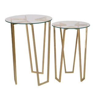 Gedrie 2 Piece Metal End Table..