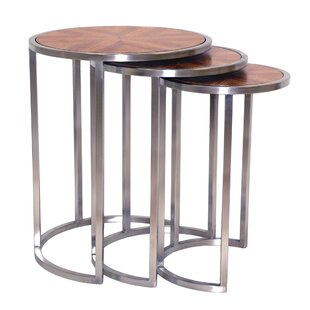 Inexpensive Greta 3 Piece Nesting Tables by Allan Copley Designs