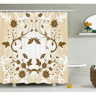 Swirled Petals Leaf Single Shower Curtain