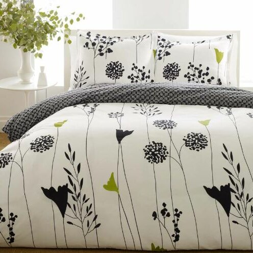 Perry Ellis Asian Lily Reversible Duvet Cover Set