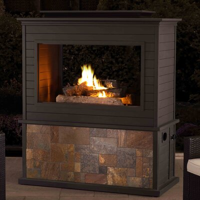 Sunjoy Steel Propane Outdoor fireplace