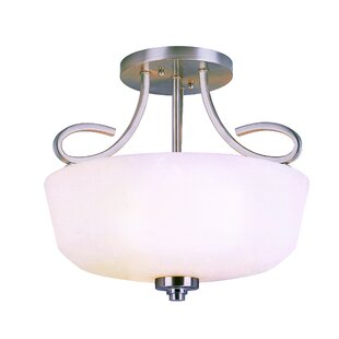 Bucci 2-Light Semi Flush Mount..