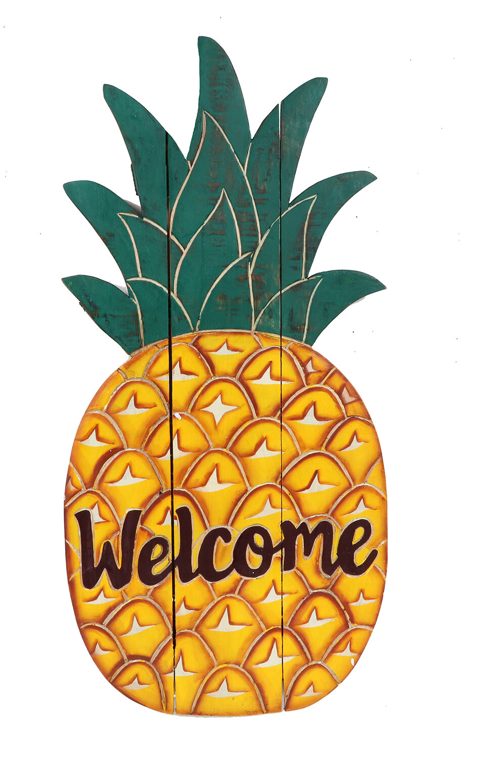 Yard DeSigns Magnetic Yard Art Sign Holiday Pineapple Welcome
