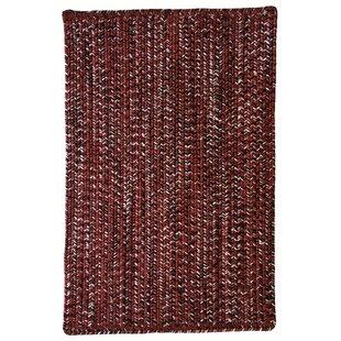 Find for Aarush Hand-Braided Burgundy/Black Indoor/Outdoor Area Rug Great deals