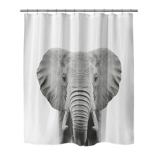 Bemot Elephant Single Shower Curtain