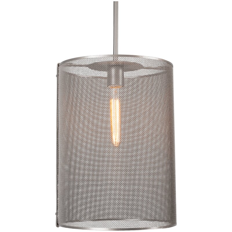 Hammerton Studio Uptown Mesh 1 Light Single Cylinder Pendant Perigold