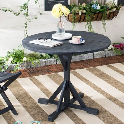 Babineaux Solid Wood Dining Table Color: Dark Slate Gray by Darby Home Co