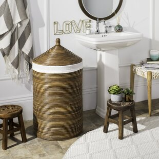 Mistana Rattan Laundry Hamper with Liner