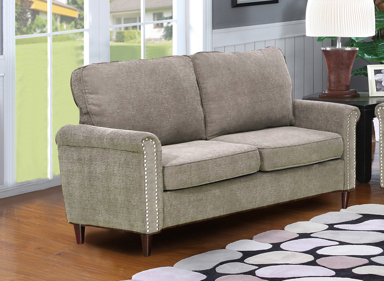 Hayton Fabric Modern Living Room Loveseat