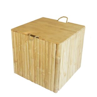 Bamboo Storage Ottoman by ZEW Inc