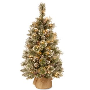 3 green pine artificial christmas tree with 35 warm white led lights - Plastic Outdoor Christmas Decorations Clearance