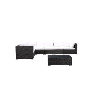 Sinead 8 Piece Rattan Sectional Seating Group With Cushions By Brayden Studio