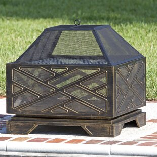Fire Sense Catalano Steel Wood Burning Fire Pit