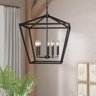 Andover Mills Indigo 4-Light Lantern Chandelier