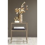 Borghild Glass Top End Table with Storage by Martha Stewart