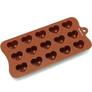 15 Cavity Dimpled Valentine Heart Silicone Mold Pan