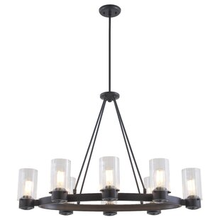 Essex Special Edition 8-Light Wagon Wheel Chandelier by DVI